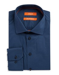 Tallia Orange Patterned Dress Shirt Navy