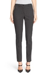 Women's Michael Kors 'Samantha' Windowpane Skinny Stretch Wool Pants