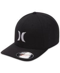 Hurley Men's Suits 2.0 Embroidered Logo Flexfit Hat White