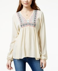 American Rag Embroidered Bib Peasant Blouse Only At Macy's