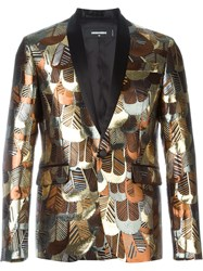 Dsquared2 Brocade Motif Blazer Black