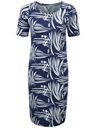 Pure Collection Julia Simple Jersey Dress Bamboo Print