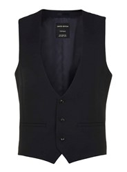 Topman Limted Edition Navy Suit Waistcoat Blue