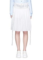 Sacai Paperbag Waist Pleat Poplin Long Shorts White