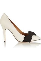 Isabel Marant Kung Fu Leather Pumps Off White