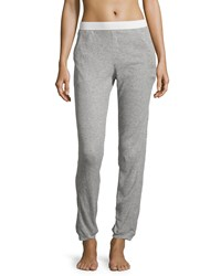 Skin Waffle Cropped Pants Heather Gray
