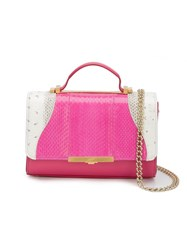 Khirma Eliazov 'Diamond Mini' Satchel Pink And Purple