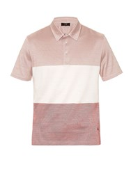 Dunhill Contrast Stripes Polo Shirt