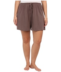 Jockey Cotton Essentials Plus Size Boxer Truffle Women's Pajama Brown