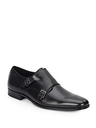 Hugo Boss Mattio Monk Strap Shoes Black