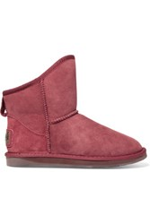 Australia Luxe Collective Cosy Short Shearling Ankle Boots Brick