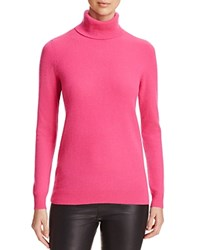 Bloomingdale's C By Cashmere Turtleneck Sweater Electric Pink