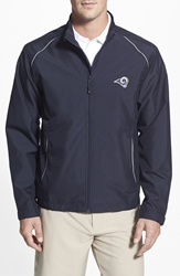 Cutter And Buck 'St. Louis Rams Beacon' Weathertec Wind And Water Resistant Jacket Navy Blue