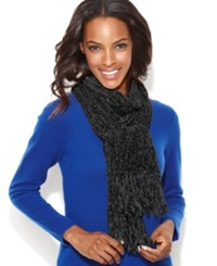 Charter Club Chenille Shaker Scarf Black