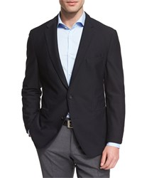 Hugo Boss Norwin Waffle Stitch Slim Sport Coat Black Men's