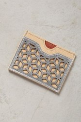Anthropologie Lasercut Leather Card Holder Nude