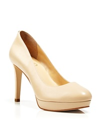 Ivanka Trump Platform Pumps High Heel Natural