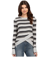 Brigitte Bailey Crossover Sweater Soot Combo Women's Sweater Gray