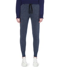 Markus Lupfer Metallic Knit Jogging Bottoms Navy