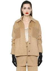 Max Mara Camel Wool Caban Coat