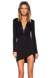 Bless'ed Are The Meek Tie Up Dress Black
