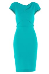 Roland Mouret Tailored Wool Crepe Dress Green