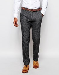 Vito Wool Suit Trousers In Slim Fit Grey
