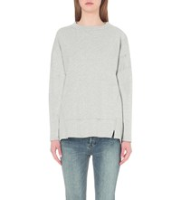 Whistles Relaxed Cotton Jersey Sweatshirt Grey