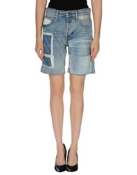 We Are Replay Denim Bermudas Blue