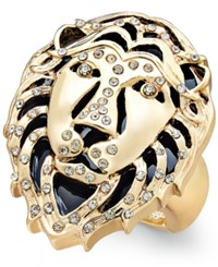 Thalia Sodi Gold Tone Lion's Head Stretch Ring Only At Macy's