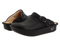 Alegria Seville Professional Black Nappa Leather Women's Clog Shoes