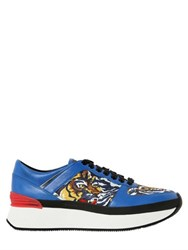 Kenzo 40Mm Leather And Printed Neoprene Sneakers