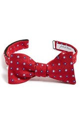 Men's John W. Nordstrom 'Richardson' Medallion Silk Bow Tie Red