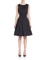 Pauw Belted Fit And Flare Dress Black