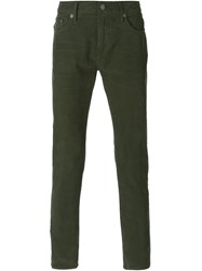 Burberry Brit Corduroy Slim Trousers Green