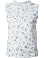 Zadig And Voltaire Illustrative Print Tank Top