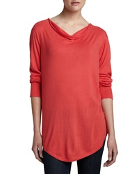 Natori Tranquil Long Cowl Neck Sweater X Small