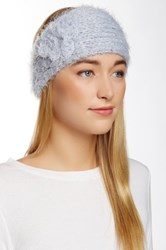 David And Young Fuzzy Flower Headwrap Gray