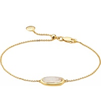 Monica Vinader Vega Yellow Gold Plated Moonstone Bracelet