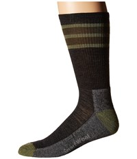Smartwool Striped Hike Light Crew Charcoal Men's Crew Cut Socks Shoes Gray