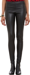 Saint Laurent Stretch Lambskin Leggings Black