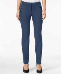 Alfani Petite Faux Leather Detail Pants Only At Macy's Global Blue