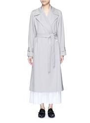 The Row 'Swells' Belted Gabardine Coat Grey