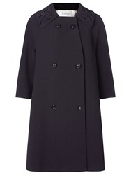 Kaliko Embellished Collar Coat Black