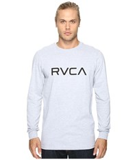 Rvca Big L S Top Athletic Heather Men's Long Sleeve Pullover Gray