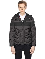 Moncler Gamme Bleu Nylon And Wool Down Jacket