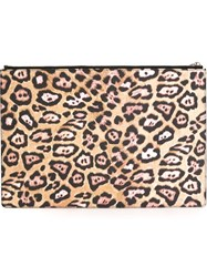 Givenchy Leopard Print Clutch Nude And Neutrals