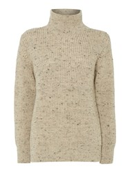 Gloverall Rib Funnel Neck Jumper Cream
