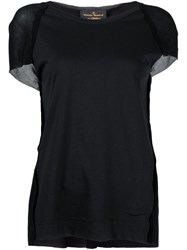 Vivienne Westwood Anglomania Contrast Panel T Shirt Black