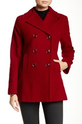Kenneth Cole Wool Blend Peacoat Red